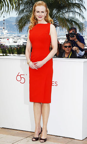 Nicole Kidman is a vision in red Antonio Berardi at the Paberboy photocall