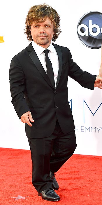 Game of Thrones' Peter Dinklage opted for a suit and tie instead of the traditional tux look of the evening