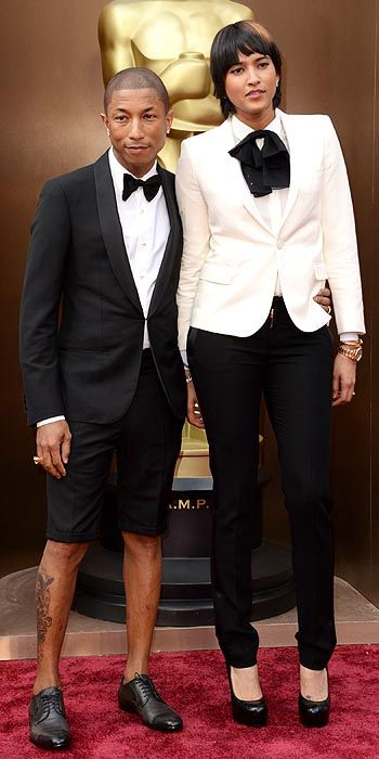Pharrell Williams in a shorts tuxedo