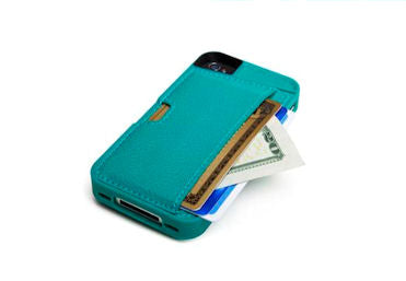 The Q Card Case Comfortably fits 3 cards (credit cards, IDs, etc) plus cash