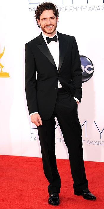 Game of Throne's Richard Madden looks dapper in his tux at the 2012 Emmy Awards
