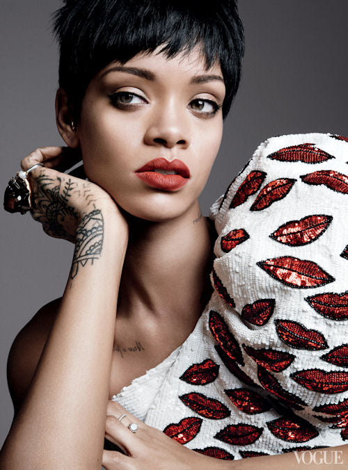 Kisses--Rihanna in Saint Laurent by Hedi Slimane
