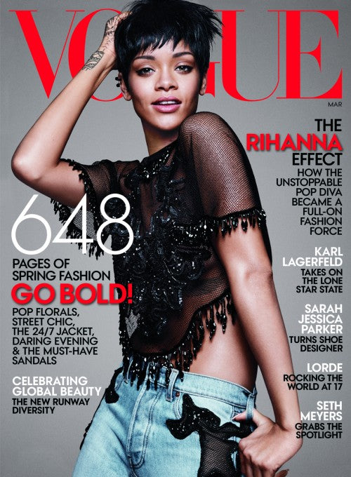 Rihanna takes on her third Vogue cover