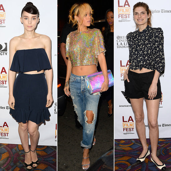 Rooney Mara, Rihanna and Lake Bell all love the crop top trend