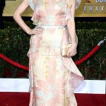 Rose Byrne went for a little flower power in Valentino