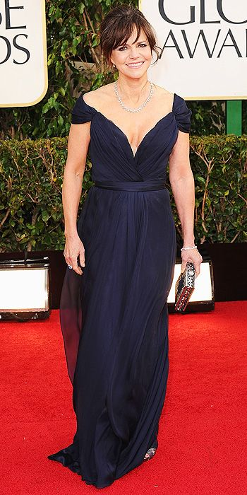 2013 Golden Globes - Sally Field was the epitome of elegance in navy blue