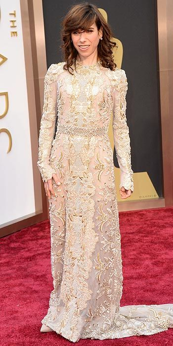 Cate's co-star Sally Hawkins also opted to go with the trend hue of the night but in lace