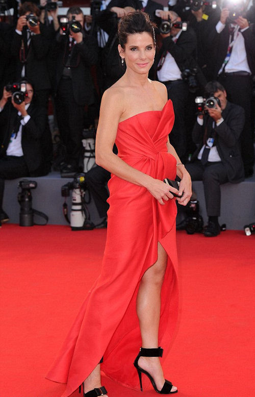 Sandra Bullock was the ultimate lady in red at the Venice Film Festival