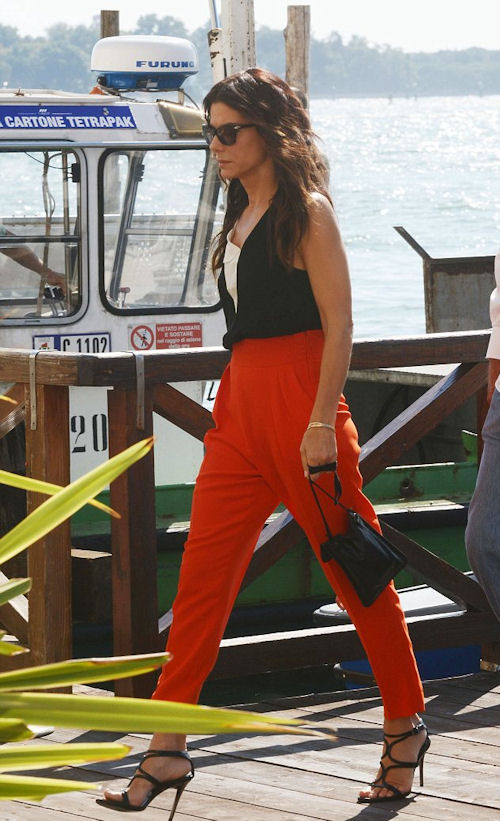 Sandra Bullock also hit the festival circuit to promote her latest film in Venice
