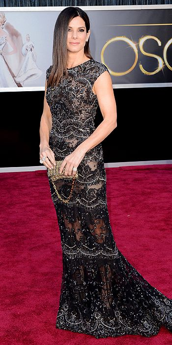 Sandra Bullock wowed in an Elie Saab gown and Harry Winston jewels