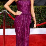Sarah Hyland looked all grown up in this purple number