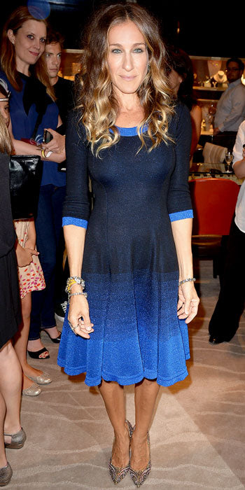 Sarah Jessica Parker supports Fashion's Night Out in an ombre Prabal Gurung number
