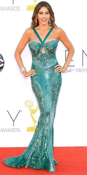 Sofia Vergara attended the 2012 Emmy Awards in a stunning beaded Zuhair Murad number