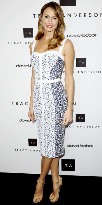 Stacey Keibler looked lovely and light in Rebecca Minkoff