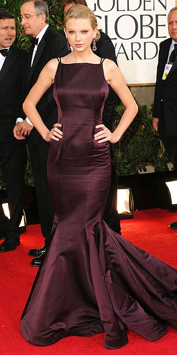 Taylor Swift was all grown up in plum Donna Karan Atelier