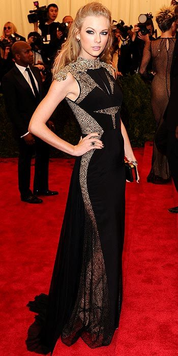 Even Taylor swift added a little edge to her style in J. Mendel