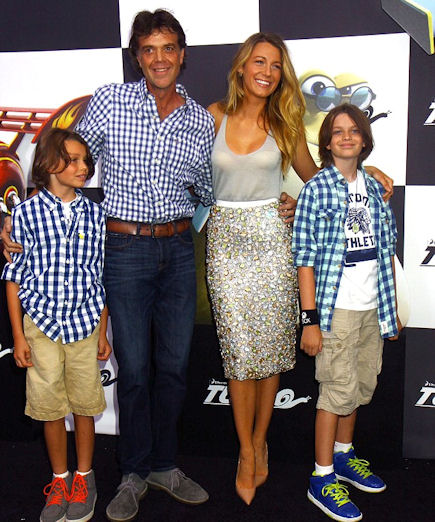 Blake Lively and family at premiere of Turbo