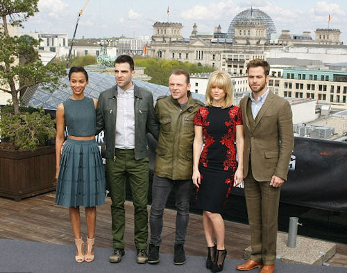 The cast of Star Trek Into the Darkness attend a photocall for the film in Berlin