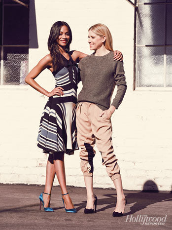 Zoe Saldana and Stylist Petra Flannery