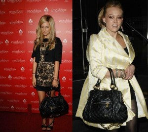 Ashley & Hilary instantly make their outfits classy with this quilted bag!