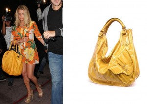 Jessica Simpson dines in bold colors at Beso