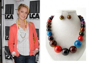 Katherine Heigl's Colorful Beaded Necklace