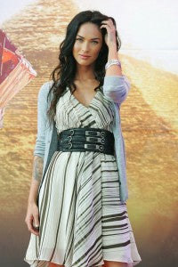 Megan Fox looks sassy in this belted look