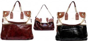 "The ""Carrie"" Tote in Burgundy & Black"