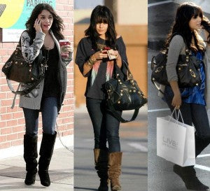 Vanessa Hudgens Studded Motorcycle Bag