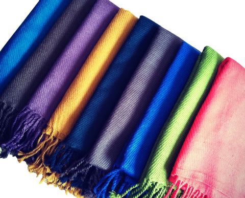 "The Candy Colored ""Carys"" Fringed Scarf"