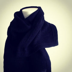 "The Black ""Hayley"" Knitted Scarf"