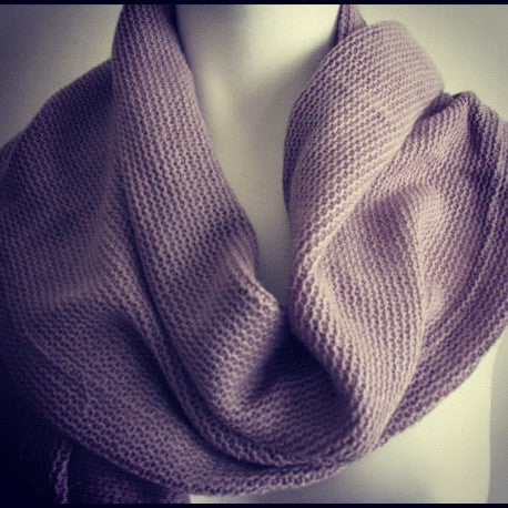 "The Gray ""Hayley"" Knitted Scarf"