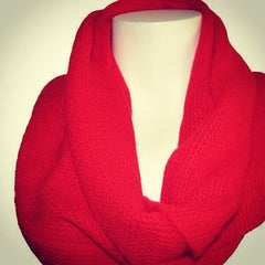 "The Red ""Hayley"" Knitted Scarf"