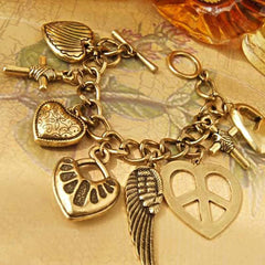 Antique Inspired Charm Bracelet