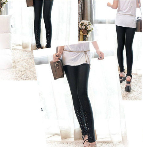 Stretch Leggings with Tie Details