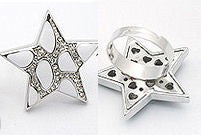 White Star Shaped Cocktail Ring