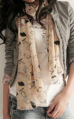 "The ""Stella"" Printed Chiffon Scarf"