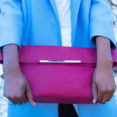 Celia Handcrafted Oversized Foldover Clutch