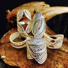 Luciana Handcrafted Silver Filigree Ring