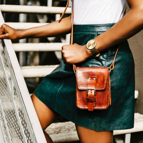 Fiorella Handcrafted Leather Satchel