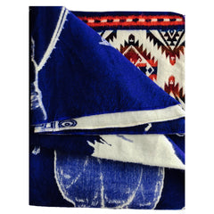 Handwoven Cobalt Blue Blanket / Throw