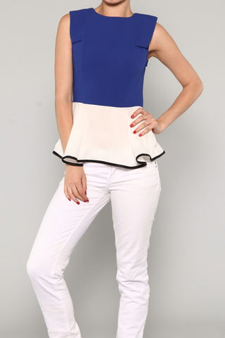 Color Blocked Peplum Top