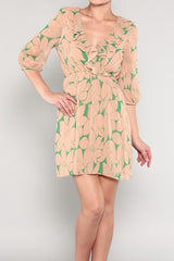 Floral Print Ruffled Dress