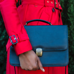 Lourdes Vintage Inspired Structured Bag