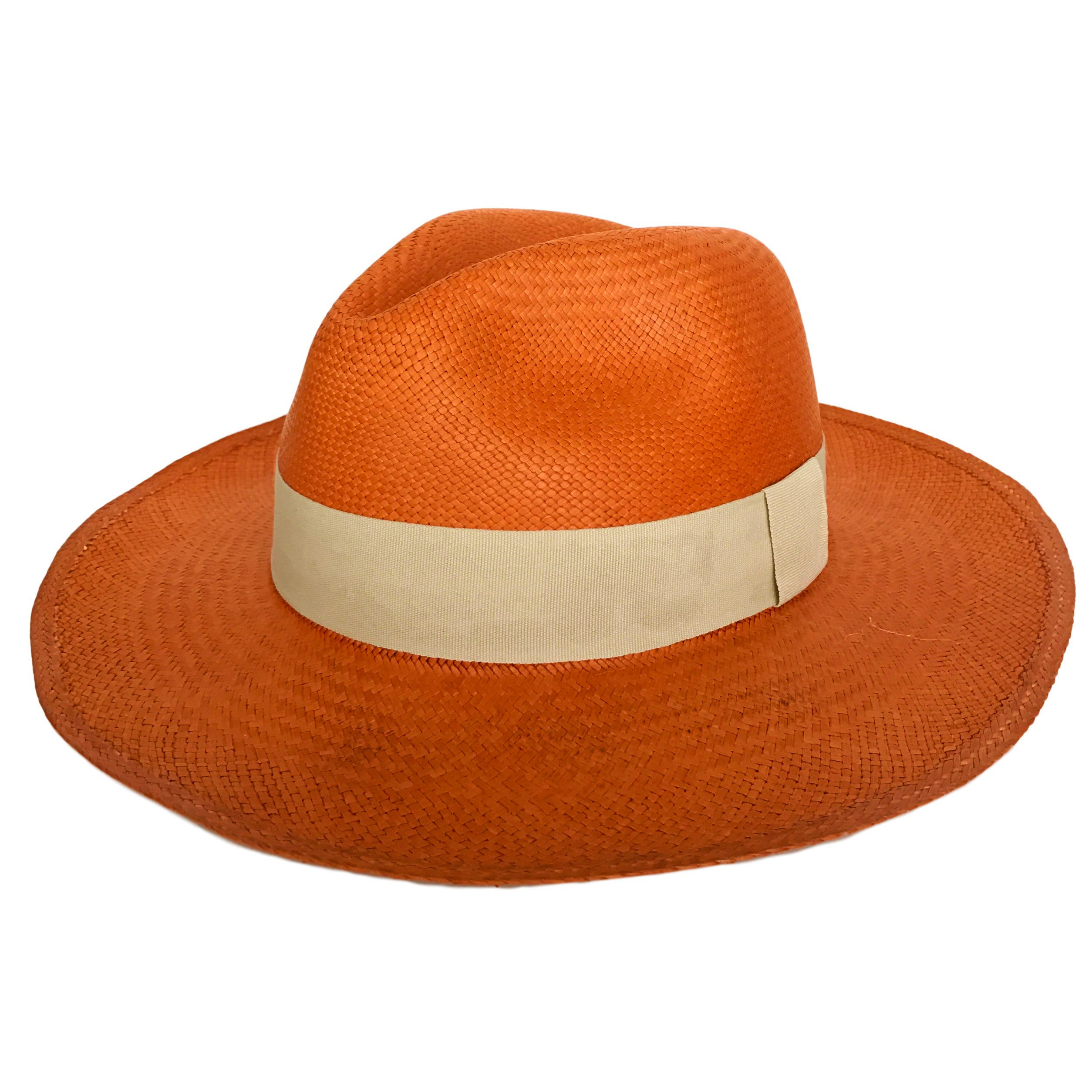 16a1d3896cb Handwoven Orange Panama Straw Hat – Rue de Chic