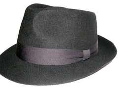 Black Wool Fedora
