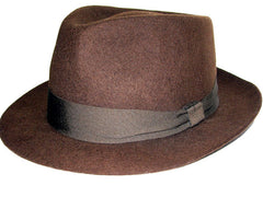 Chocolate Brown Wool Fedora