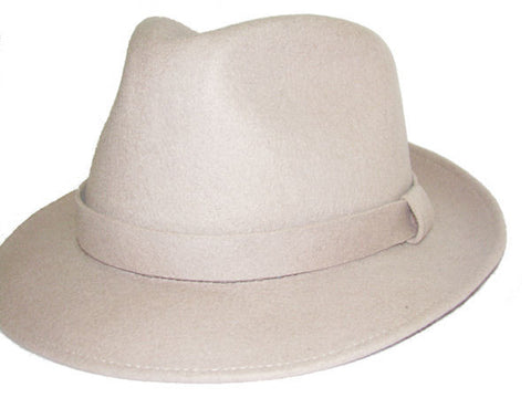 Light Gray Wool Fedora