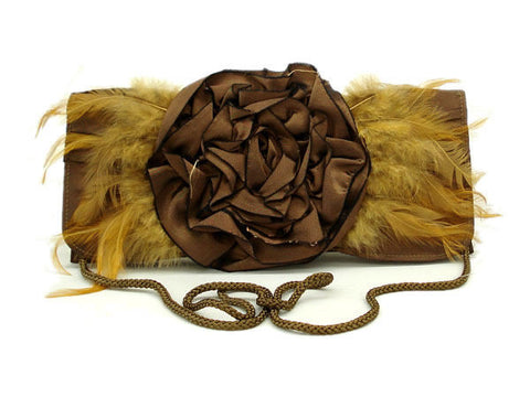 "The ""Rose"" Feathered Clutch"