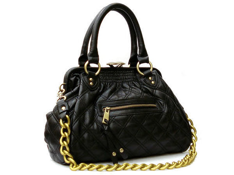 "The Daytime and Evening Quilted Black ""Ana"" Bag"